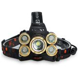 5 LED cycling Headlamp 4R5 1T6 Zoomable rechargeable focusable Headlight Flashlight Torch Fishing camping