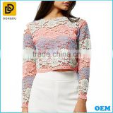New Women's Summer Casual Elegant Ladies Blouse Design Girl Lace Top Clothing Manufacturer