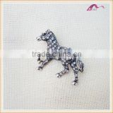 Magnet Crystal Horse Brooch For Men Wedding Jewelry Wholesale