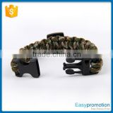 Outdoor sport survival bracelet paracord/wholesale survival bracelet for hiking climbing