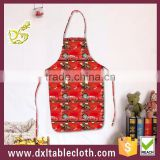 Household Waterproof Anti oil cartoon graphic plastic kitchen apron