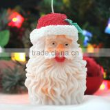 Double Sided 3D Handmade Silicone Candle Molds Santa Silicon Mould for Christmas Day Wholesale
