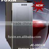 FUXIN:JC-33CLW.Table wine fridge hold 12 bottles/ Wine chiller with Aluminum trim Door Frame