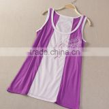 Fashion leisure embroidery wholesale tank tops for women in bulk wholesale fitness clothing from china