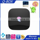 2016 New Q Box Android 5.1 Media Player Q-BOX With Apps&Addons Preinstalled Android Tv box S905 2GB Ram 16GB Rom Kodi Box                                                                         Quality Choice