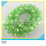 10 mm Green Crystal Stone Faceted Rondelle Glass Beads Strands For Decoration
