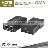 30M HDMI Extender by Dual CAT 5E/6 hdmi repeater adapter cable 30M