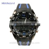 NEW ARRIVAL !!Stainless steel back case silicon watch quartz rubber watch alibaba men watch in USA