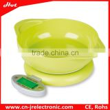 Christmas gifts 2015 5kg New Cheap ABS Plastic foldable Diet kitchen scale weighing Scale with bowl