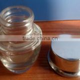 wholesale 30g cosmetic glass jars wholesale,20g cosmetic glass jars with golden lids ,20 g coloured glass jars