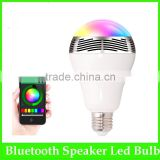 Android Iphone Compatible Smart Bulb Bluetooth Audio Speakers 3W E27 LED RGB Music Bulb colorful bluetooth smart led light bulb                                                                         Quality Choice