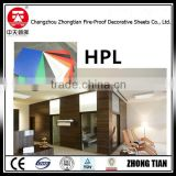 2-25mm thick fireproof compact laminate panel hpl panel Decorative High-Pressure Laminates