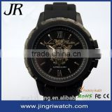 hot selling man watch,stainless steel watch bezel,rubber strap watch