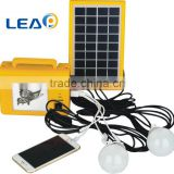 solar power lighting system, with solar panel, LED light, battery with USB output