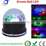 RGB LEDS Sound Actived Mini Rotating Crystal Magic Ball Stage ceiling Lights for KTV Xmas Party Wedding Show Club Pub Disco DJ