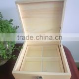 high quality Handmade lacquer Natural wood solid wood pine wood Wooden Gift Box Wooden Tea Box handle and lock