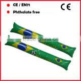 brazil world cup inflatable cheering sticks with custom logo printing