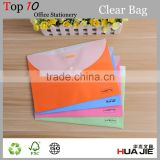 Colorful design of filing product carrying file bag in pp plastic material