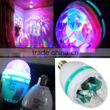 CE Approved Festival Party Mini Laser Magic Colorful Rotating Led Bulb Lamp RGB Led Color Changing Led Light                                                                         Quality Choice
