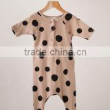 Hot sales! soft gorgeous girls solid color organic cotton baby rompers wholesale baby clothes