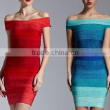 2016 Fashion sexy boat neck colorful bodycon women dress for ladies party                                                                         Quality Choice                                                     Most Popular