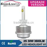 Speedlight Upgrade Version 30W 3600LM 2S H1 Auto Headlight Car LED Light Motorcycle