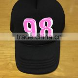 Alibaba china custom print baseball cap wholesale cotton curved brim mesh trucker baseball cap