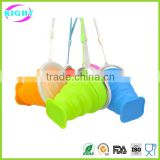 Food Grade Foldable Drinkware Collapsible Silicon Cup