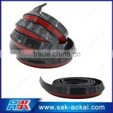IN STOCK fake carbon fiber surface PU Car Bumper Protector Strips