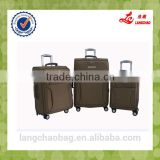 New Design customized 4 spinner wheels zipper personalized soft polo trolley luggage sets