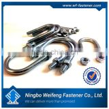 High quality strength zinc plated u-bolt rod to cable clamps good price ningbo fastener suppliers manufacturers exporters