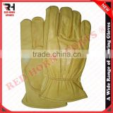 Red Horn Leather Driving Gloves, Winter Gloves, Work Gloves Custom designs and logos are accepted