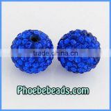14mm Loose Shamballa Beads In Bulk Wolesale Royal Blue (9Colors) Clay Crystal Rhinestone Round Disco Ball For Jewelry Bracelets