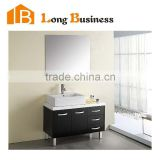 Modern Metal legs water-resistant bathroom cabinet with bamboo fiber board                                                                         Quality Choice