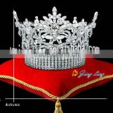 king rhinestone tiara full round large pageant crown