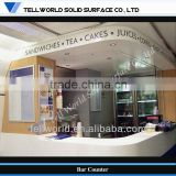 TW modern design acrylic order area L shape commercial Bar service counter (TW-MACT-115)