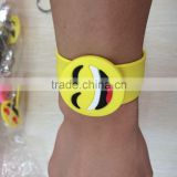 Customized Promotion PVC Snap-on Slap Wristband Bracelet Bangle