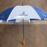 "30""x8K auto open 190T polyester windproof two layer promotional umbrella golf umbrella"