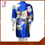 2601 Short Design Girl Pattern Women Silk Wholesale Kimono Robe