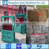 Hydraulic vertical baler machine,baling press,mini hay baler INDB-10