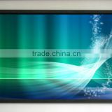 Matte White Fabric Fiber Glass curved projection screen Wall-Mounted fixed frame projector screen