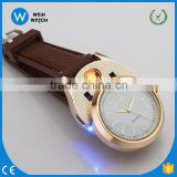 FLW009 Watch Windproof Flameless Cigarette Lighter USB Men's Wristwatches Rechargeable Lighter