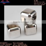 bar use reusable stainless steel wine cooler ice cube
