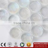 IMARK Penny Round shape Clear Iridescent Glass Mosaic Swimming Pool Tile