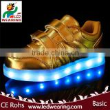 KIDS sneakers led shoes for women/men mesh lining material and tpr insole material yeezy