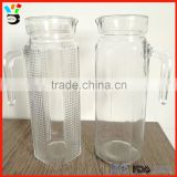 Recycle Large Size Useful Container Machine Handled Different Pattern Glass Cold Water Pot