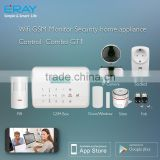 New 433mhz/315mhz GSM Home Security Alarm System Wifi APP Natural Gas Check Valve with Ios/Android App Control (GS-GT1)