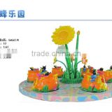 New products China Cheap amusement park equipment Colorful Outdoor Playground bee ride 4 seat children like