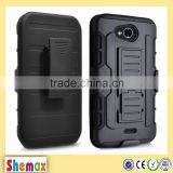 Tactical Hybrid Armor Case 2-in-1 Dual Layer Protector with Kickstand and Holster Combo For Kyocera Hydro Wave C6740