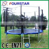 Fourstar wholesale 10FT Indoor and Outdoor Trampline Bed with Safety Net and Galvanized Ladder for Kids and Adults